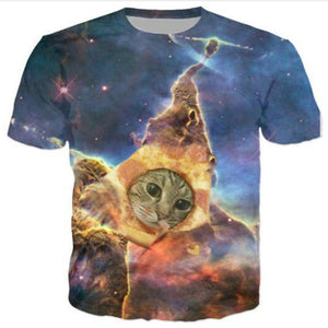 Cat Dream Pizza T Shirt