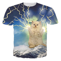 White Lightning Kitty T Shirt