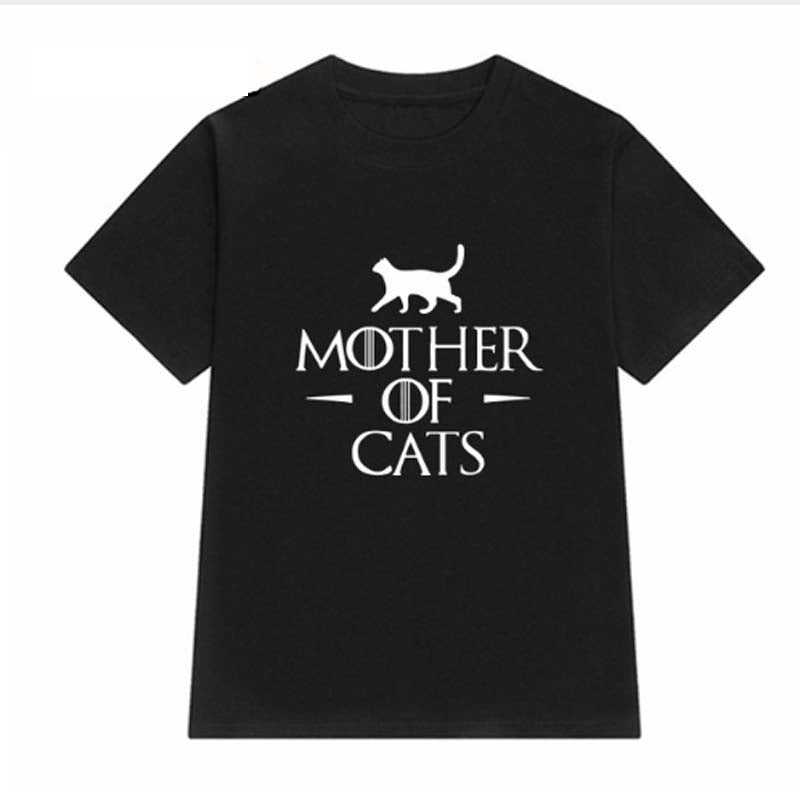 MOTHER OF CATS Printed Female T-shirt