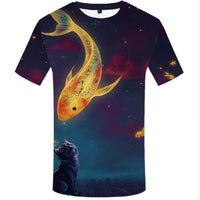 Kitty Goldfish T Shirt