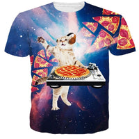 DJ Pizza Cat T Shirt