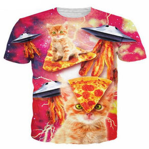 Space Pizza Kitty T Shirt