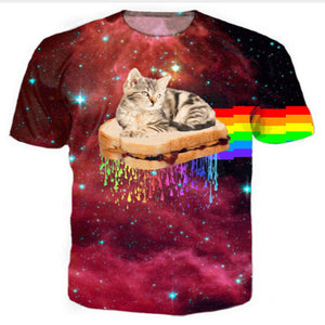 Rainbow Sandwich Bengal Cat T Shirt