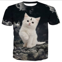 Bad Kitty White Cat T Shirt