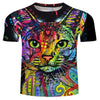 Rainbow Acrylic Cat T Shirt