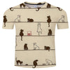 Multi Tan Colored Cat T Shirt
