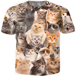 Multi Cuteness Cat T Shirt