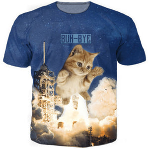 Rocket Kitty T Shirt
