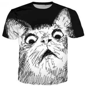 Funny Surprised Cat T Shirt