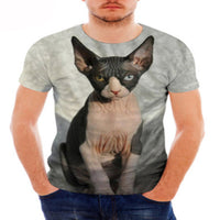 Beautiful Tuxedo Sphynx Cat T - Shirts
