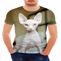 Beautiful White Sphynx Cat T - Shirts