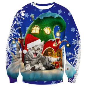 Funny Bengal Cat Christmas Sweater