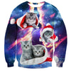 Cute Bengal Cat Christmas Sweater