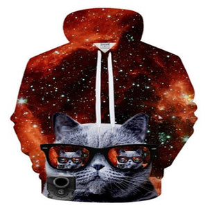 Cool Space Cat Hoodie