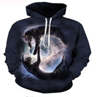 Reflection In Space Cat Hoodie
