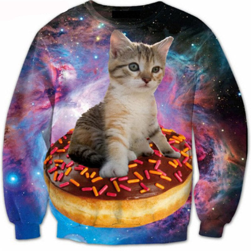 Kitty Sprinkled Doughnut Sweater