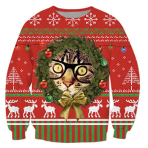 Funny Cat Ugly Christmas Sweater