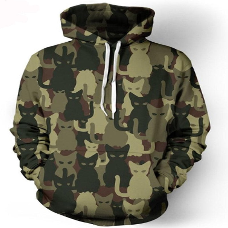 Cat Camouflage Hoodie