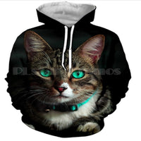 Beautiful Green Eyed Cat Hoodie