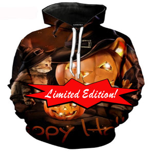Limited Edition Kitten Pumpkin Hoodie