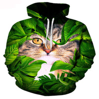 In The Bushes Cat Hoodie