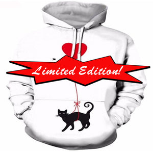 Limited Edition Black Cat Love Hoodie