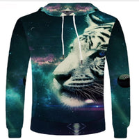 Painted White Tiger Hoodie Sweatshirt