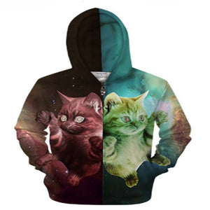 Possessed Crazy Cat Hoodie