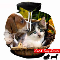Basket Of Cuteness Puppy And Kitten Hoodie