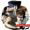 Cool Cat And Dog Hoodie