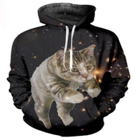 Space Tiger Cat Hoodie