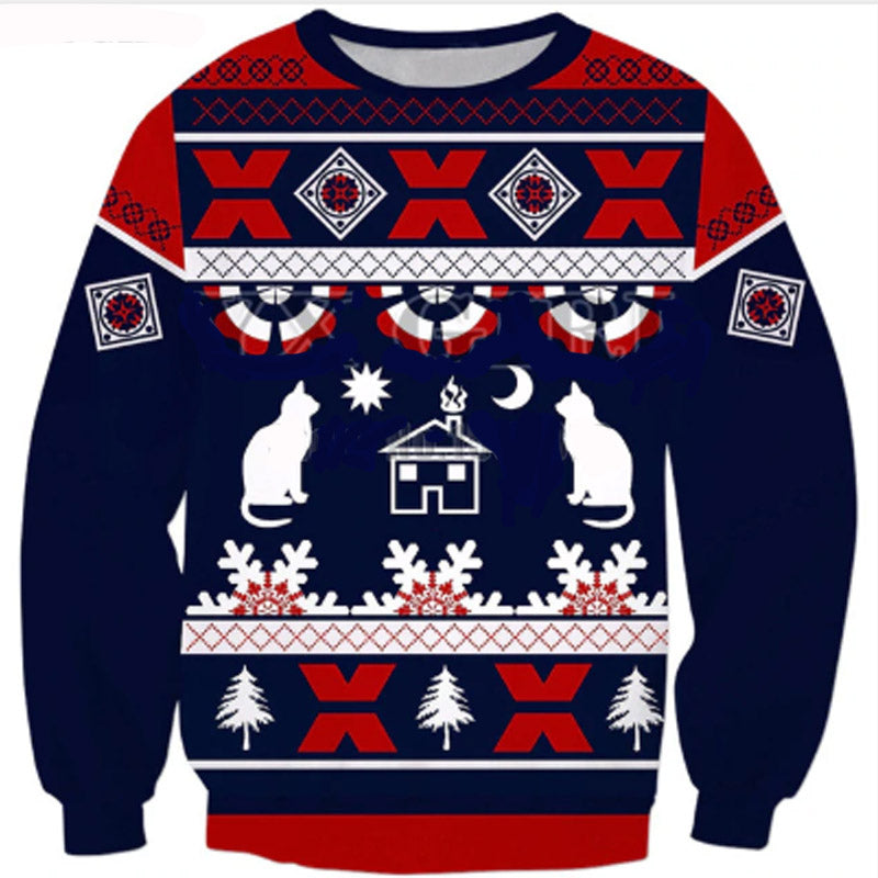 Cool Cat Ugly Sweater