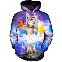 Beer And Bacon Cat Hoodie