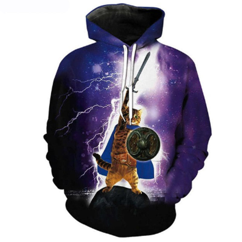 Almighty Warrior Cat Hoodie