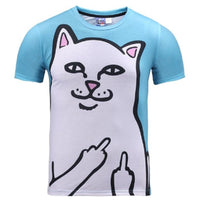 Funny Middle Finger Cat T Shirt