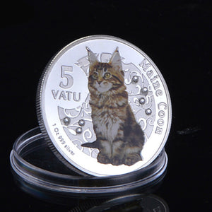 Maine Coon Cat Collectible Coin