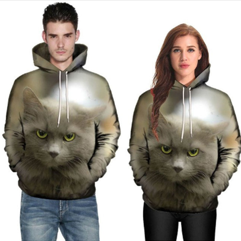 Angry Russian Blue Cat Hoodie