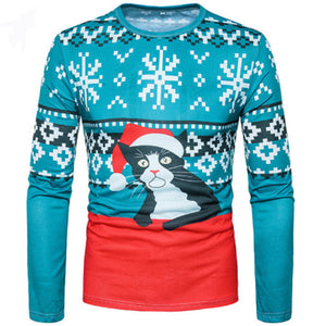 Tuxedo Cat Holiday Ugly Sweater