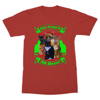 The Gang Is All Here 6 Cats T-Shirt