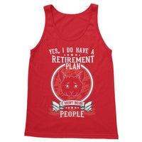 My Retirement Plan Includes Cats Not People Softstyle Tank Top