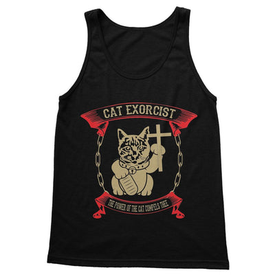 Cat Exorcist T Shirt Softstyle Tank Top