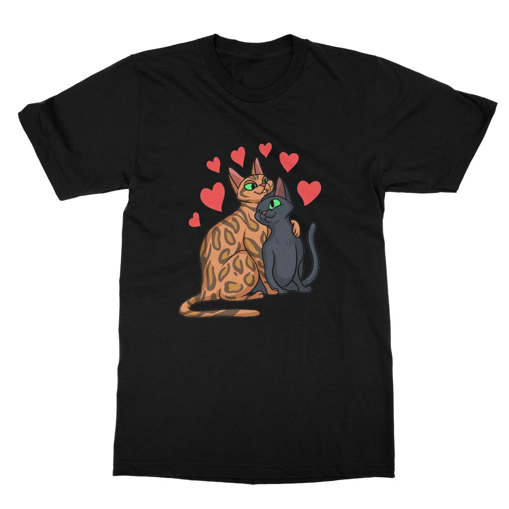 Valentines Day Cat Love Softstyle T-shirt
