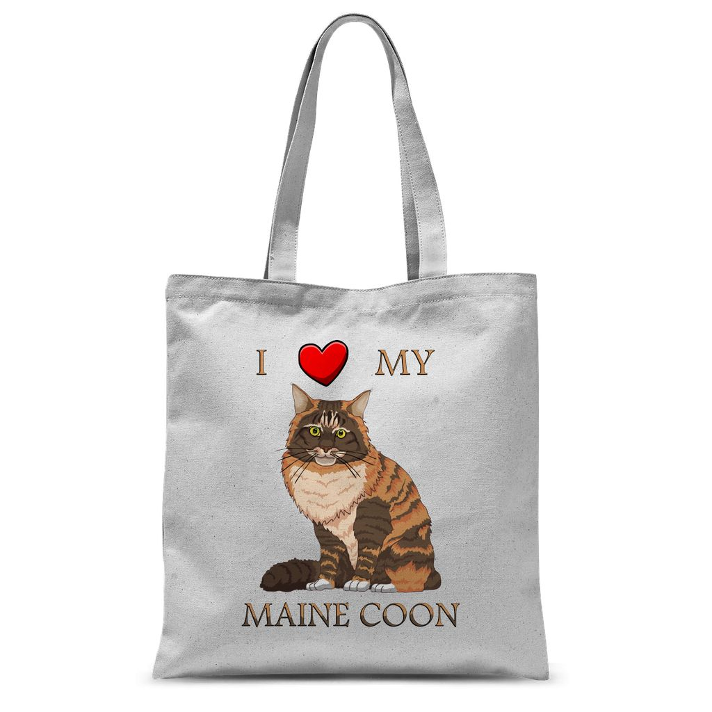 I Love My Maine Coon Sublimation Tote Bag