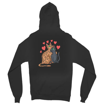 Valentines Day Cat Love Unisex Full Zip Hoodie