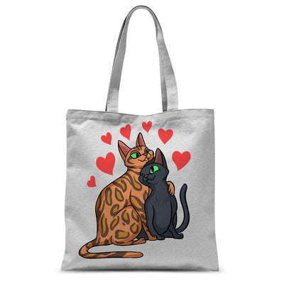 Valentines Day Cat Love Tote Bag