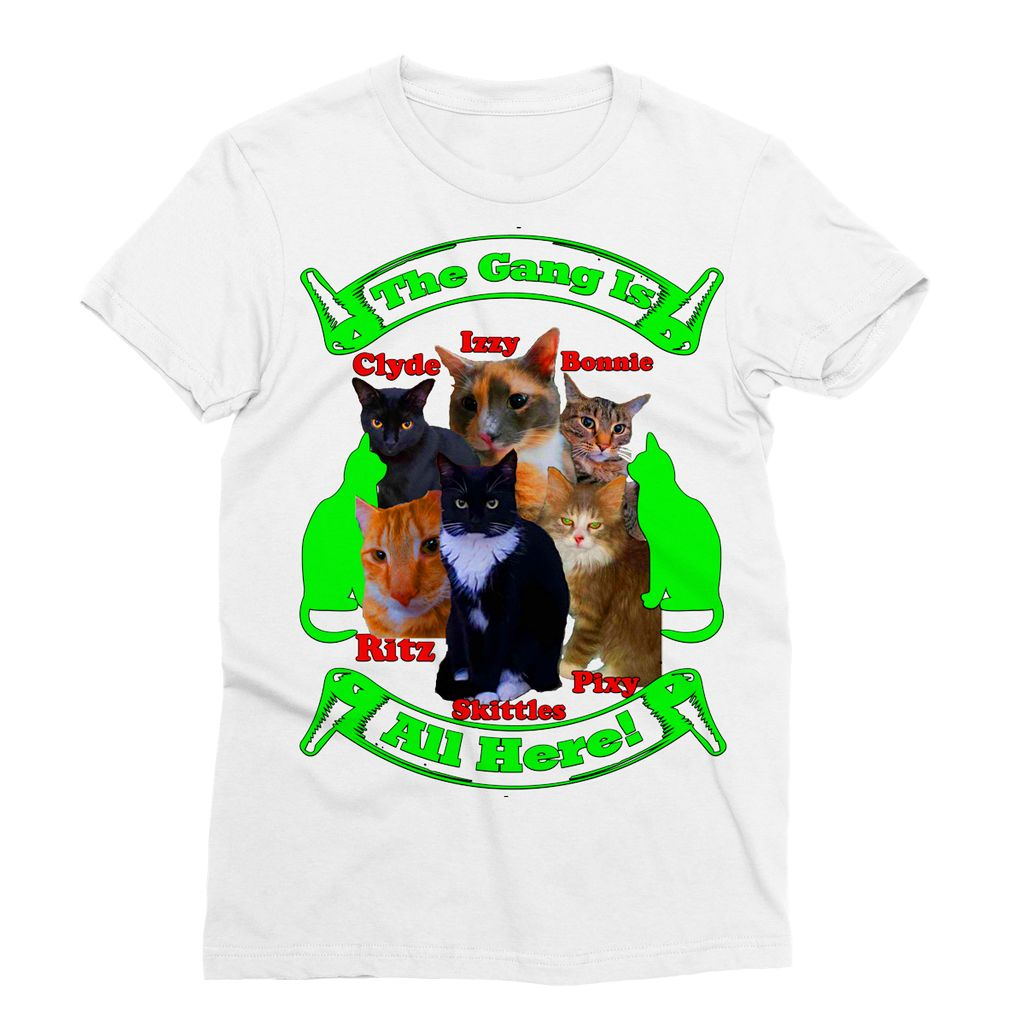 The Gang Is All Here 6 Cats Sublimation T-Shirt