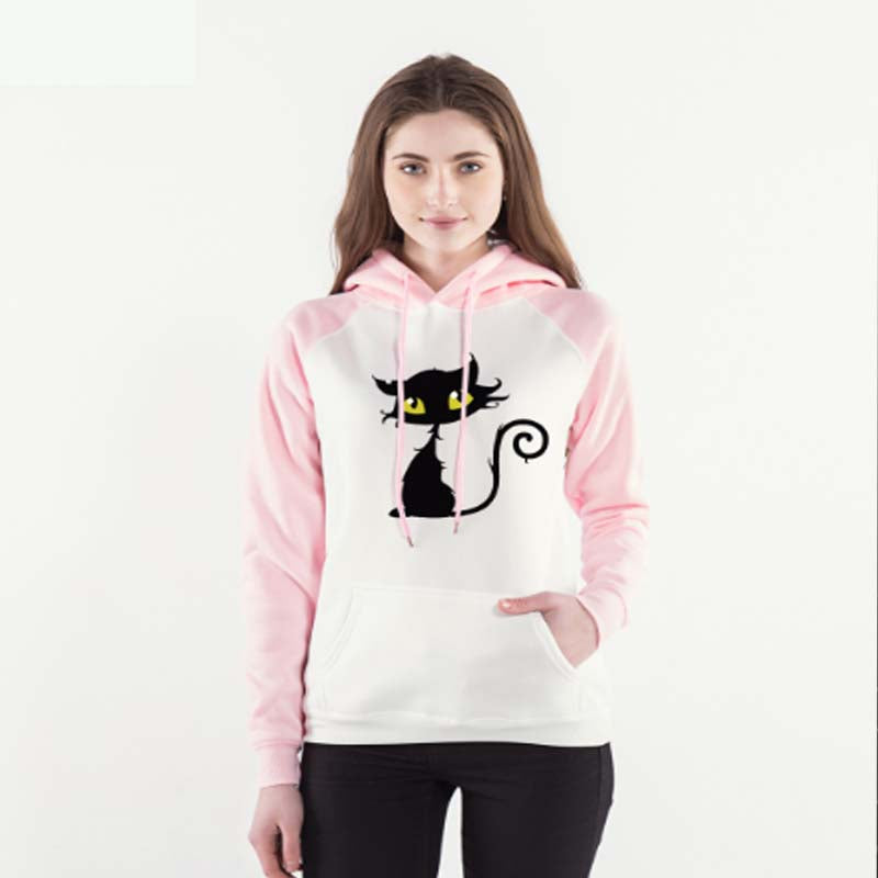 Black Cat Hoodie For Women