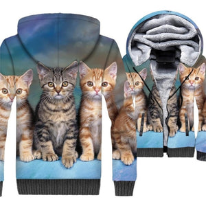 (Temporarily Sold Out) Cuteness Kitten Cotton Hoodie