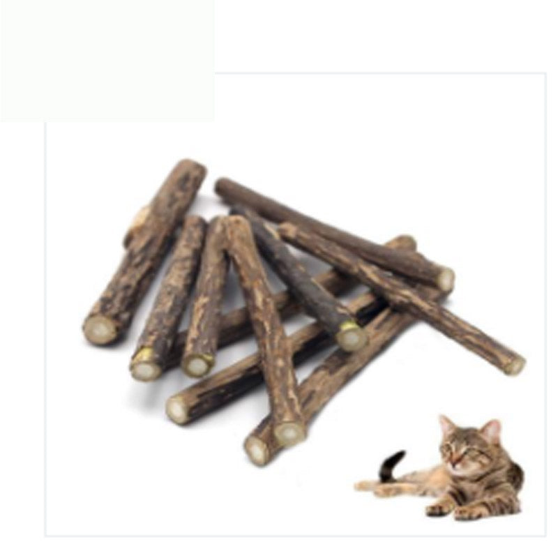 Pure Natural Catnip Pet Cat Snacks Sticks Cleaning Tooth Cat Toys