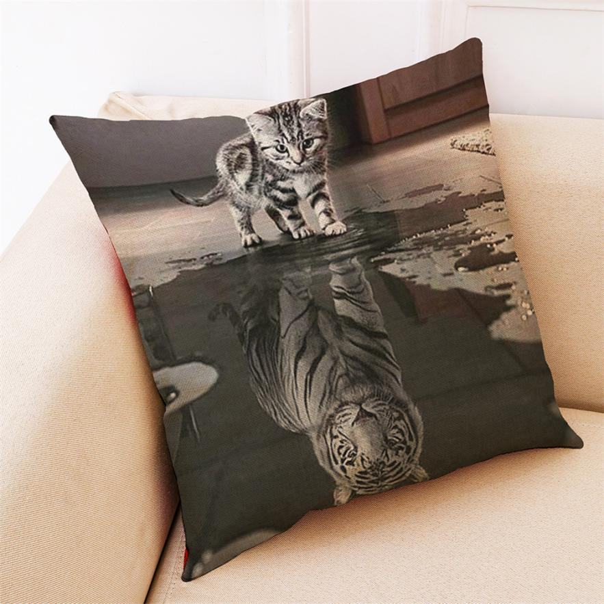Small Cat Big Tiger Pillow Case